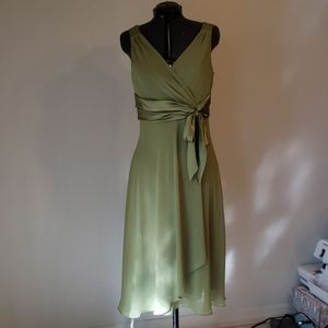 Green dress Chiffon Wedding bridesmaid spring